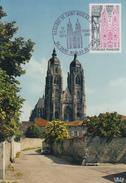 Carte Maximum 1er  Jour     Basilique   De   SAINT  NICOLAS  DE  PORT    1974 - Cartes-Maximum