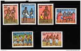 2000 Burkina Faso Native Dancing Complete Set Of 6 MNH - Burkina Faso (1984-...)