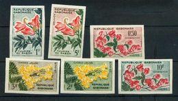 Gabon  153 158 Fleurs Non Dentelé Neuf Avec Trace De Charnière  * TB - Gabon (1960-...)