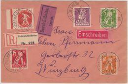 Bayern - 50 Pfg. Abschied U.a., Eil-Einschreibebrief Hettenleidelheim 24.4.20 N. - Bavaria
