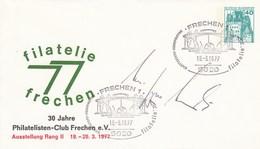 PU 110/17  Filatelie 77 Frechen - 30 Jahre Philatelisten-Club Frechen E.V. - Ausstellung Rang II , Frechen 1 - Privatumschläge - Gebraucht