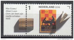 Nederland - Jaar Van Het Boek - Max Euwe - Oom Jan Leert Zijn Neefje Schaken - MNH - NVPH 3460 - Schrijvers