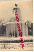23 GUERET - PLACE BONNYAUD  HIVER 1916-1917  -LA FONTAINE SOUS LA NEIGE ET GLACE - RARE CARTE PHOTO - Guéret