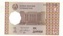 BILLET  NEUF TADJIKISTAN  ONE DIRAM  1999 - Tadjikistan