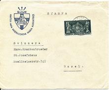 Vatican Cover Sent To Switzerland 18-12-1958 Single Franked - Vatican