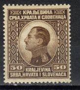 Yugoslavia,Kingdom,King Aleksandar 50 Para 1924.,MVLH - 1919-1929 Kingdom Of Serbs, Croats And Slovenes