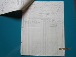 Facture + Traite 1901 Usine De LARIANS - Derosne & Cie Maitres De Forges - Loulans Les Forges - Derosne Cendrey Doubs - France