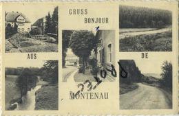 Montenau : Bonjour De  Gruss Aus ( Ecrit Avec Timbre ) - Amblève - Amel