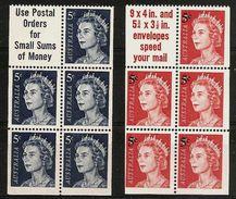 AUSTRALIA 1967 - Queen Eliz. II - From Booklet 2x5v - Mi 391DE + 392DE MNH ** Cv€15,00 K032d - Neufs
