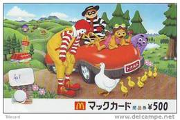 PREPAID CARD McDonald (61)  MacDonald - McDonald´s * Card Japan - Advertising