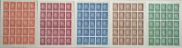 Lebanon 1967 Mi. 1010-1014 Complete Set 5v. All MNH FULL Sheets 20 Stamps, India Issue - Lebanon