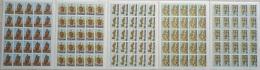 Lebanon 1968 Mi. 1039-1043 Complete Set 5v. All MNH FULL Sheets 20 Stamps, Emir Fakhreddine II - Lebanon