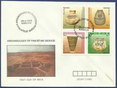 PAKISTAN 1989 MNH FIRST DAY COVER FDC ARCHAEOLOGY PAKISTAN SERIES - Pakistan