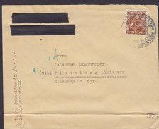 Allierte Besetzung WETZLAR 1948? Cover Brief PINNEBERG Holstein 24 Pf. M. Netzaufdruck Single Franking (2 Scans) - Bizone