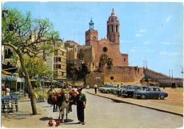 SITGES  CATALUNYA  Baluarte E Iglesia  Auto Car Mercedes - PKW