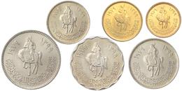 LIBYA 6 COINS SET 1, 5, 10, 20, 50, 100 DIRHAMS HORSEMAN HORSE RIDER UNC - Libya