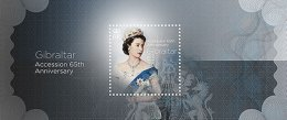 GIBRALTAR 2017 ** Accenssion 65th Anniversary Queen Elisabeth II. S/S - OFFICIAL ISSUE - DH9999 - Königshäuser, Adel