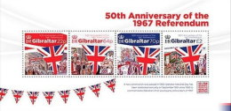 GIBRALTAR 2017 ** 50th Anniversary Of The 1967 Referendum S/S - OFFICIAL ISSUE - DH9999 - Geschichte