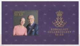 FAROE 2017 ** Royal Golden Wedding S/S - OFFICIAL ISSUE - DH9999 - Königshäuser, Adel