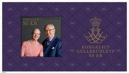 GREENLAND 2017 ** Royal Golden Wedding S/S - OFFICIAL ISSUE - DH9999 - Königshäuser, Adel