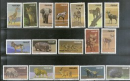 South West Africa 1980-85 Wildlife Animals Lion Deer Rhino Sc 447-63 MNH # 1268 - Rhinozerosse