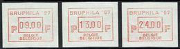 ATM 63 ** - 3 Vignettes - BRUPHILA 1987. - Moins De 15 % De La Cote C.O.B.. - Vignettes D'affranchissement