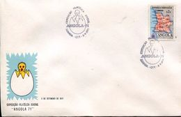 24422 ANGOLA,special Postmark  1974 Luanda, Exposicao Filatelica,Birth Of A Chick !! - Sonstige