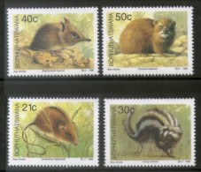 Bophuthatswana 1990 Rodent Rat Wildlife Fauna Animals Sc 240-43 MNH # 3107 - Rodents