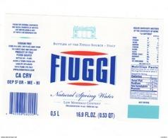 Etichetta Acqua Minerale FIUGGI In Lingua Cinese Da 1/2 Litro NATURALE 16.9 Fl.Oz. - Autres Collections