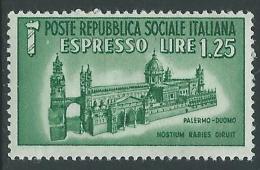 1944 RSI ESPRESSO DUOMO DI PALERMO MNH ** - B2-2 - 4. 1944-45 Repubblica Sociale