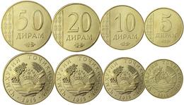 TAJIKISTAN TADJIKISTAN 4 COINS SET 5 - 10 - 20 - 50 DIRAM 2011 - 2015 UNC - Tadzjikistan