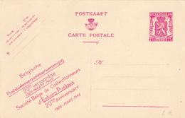 E.P. - 20ème Anniversaire Soc. Belge Des Collectionneurs D'Entiers Postaux - N° 33 - 75c Lilas -N/F - Entiers Postaux