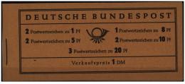 Germania - 1958 - Nuovo/new MNH - Libretto/Booklet - Mi MH-4 Y II - [7] Repubblica Federale