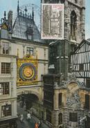 Carte  Maximum  1er  Jour    Congrés  Sociétés  Philatéliques  ROUEN   1976 - Cartes-Maximum