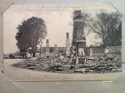 Cpa Guerre Militaria 1914 1918 Bataille De La Marne Frignicourt Près Vitry Le Francois Place De L'église - Weltkrieg 1914-18
