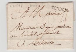 FP192 / Frankreich -  Condom 1787 Mit Textinhalt - 1701-1800: Precursores XVIII
