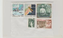 Frankreich 288 / Fragment Mit 5 Marken 1988 - Oblitérés
