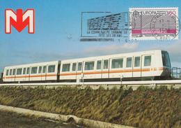 Carte  Maximum  TRANSPORTS  URBAINS  LILLE    EUROPA    1988 - Europa-CEPT