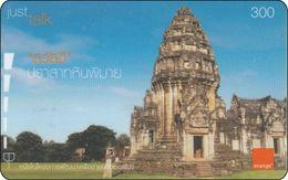 Thailand  Phonecard Orange - Pimai Stone Castle Temple - Landschaften