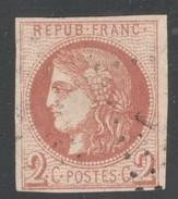 France Yvert 40B Oblit. TB Sans Défaut Signé Brun Cote E 360 (numéro Du Lot 315G) - 1870 Ausgabe Bordeaux