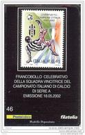 2002 - ITALIA (46)- TESSERA FILATELICA JUVENTUS CAMPIONE D´ITALIA - 6. 1946-.. Repubblica