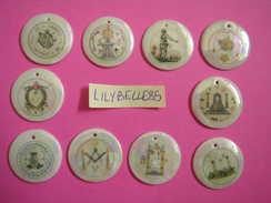 Série Complète De 10 Feves En Porcelaine PROTOTYPE - PENDENTIFS - FRANC MACONNERIE ( Feve ) RARE - History