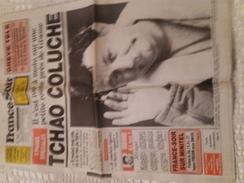 FRANCE-SOIR DU VENDREDI 20 JUIN 1986 - DECES DE COLUCHE - 1950 à Nos Jours