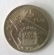Espagne - 25 Pesetas 1957 - Francisco Franco - - [ 5] 1949-… : Royaume