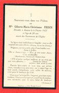 AMIENS Mlle Gilberte Marie Christianne FRISCH        FAIRE PART DECES - Décès