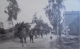 As / Asch / Quelques Charrettes De Bois Alignées Sur La Route à La Gare D'Asch - As