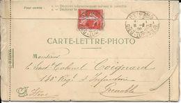 CARTE-LETTRE-PHOTO  REIMS.1909 - Reims
