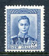 New Zealand 1938-44 KGVI Definitives - 3d Blue HM (SG 609) - 1907-1947 Dominion