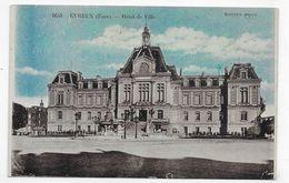 EVREUX EN 1933 - N° 1653 - HOTEL DE VILLE - USURE AU VERSO - CPA VOYAGEE - Evreux