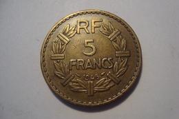 MONNAIE 5 FRANCS LAVRILLIER 1946 - France